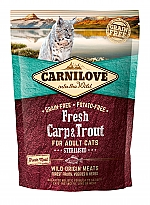 CARNILOVE INTO THE WILD FRESH CARP & TROUT FOR ADULT CATS ~STERILISED (400 GRAM)