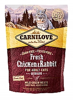 CARNILOVE INTO THE WILD FRESH CHICKEN & RABBIT FOR ADULT CATS ~GOURMAND (400 GRAM)
