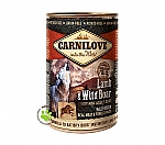 CARNILOVE INTO THE WILD ADULT DOG BLIK LAMB & WILD BOAR (400 GRAM)