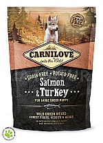 CARNILOVE INTO THE WILD SALMON & TURKEY PUPPY - LARGE BREED (1,5 KG)