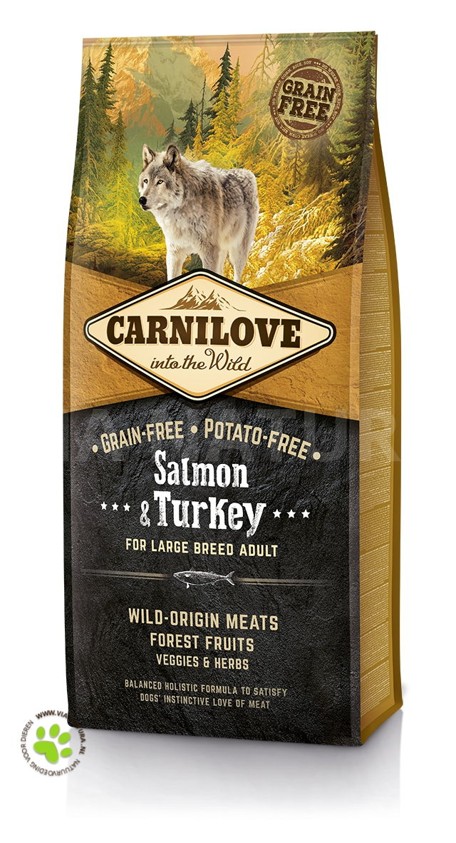 CARNILOVE INTO THE WILD SALMON & TURKEY LARGE BREED ADULT (12 KG)