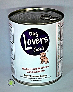 DOG LOVERS GOLD ORIGINAL MET KIP LAM ZALM BLIK (800 GR)
