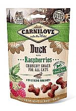 CARNILOVE CRUNCHY CAT SNACK DUCK WITH RASPBERRIES (50 GRAM)