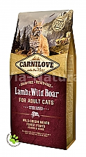 CARNILOVE INTO THE WILD LAMB & WILD BOAR FOR ADULT CATS ~ STERILISED (6 KG)