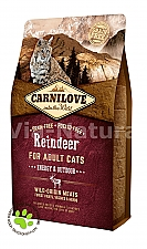 CARNILOVE INTO THE WILD REINDEER FOR ADULT CATS ~ ENERGY & OUTDOOR (2 KG)