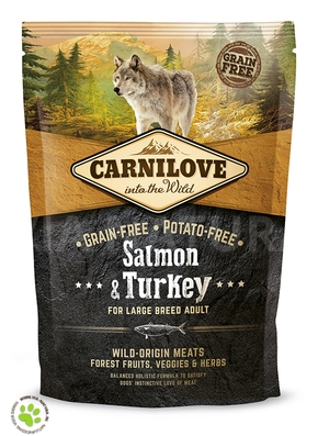 CARNILOVE INTO THE WILD SALMON & TURKEY LARGE BREED ADULT (1,5 KG)