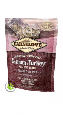 CARNILOVE INTO THE WILD SALMON & TURKEY FOR KITTENS (400 GRAM)