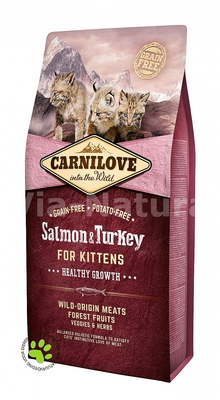 CARNILOVE INTO THE WILD SALMON & TURKEY FOR KITTENS (6 KG)