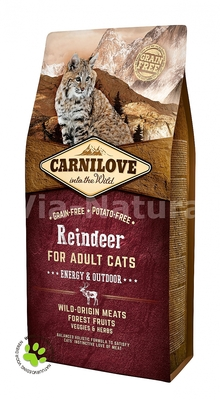 CARNILOVE INTO THE WILD REINDEER FOR ADULT CATS ~ ENERGY & OUTDOOR (6 KG)