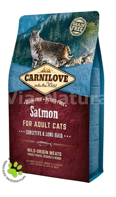 CARNILOVE INTO THE WILD SALMON FOR ADULT CATS ~SENSITIVE & LONG HAIR (2 KG)