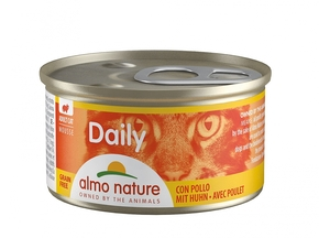 ALMO NATURE CAT DAILY MOUSSE MET KIP (85 GRAM)