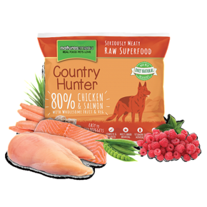 NATURES MENU COUNTRY HUNTER FROZEN CHICKEN WITH SALMON (1 KG)