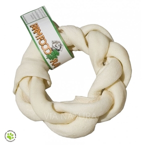 FARM FOOD RAWHIDE BRAIDED DONUT (SMALL)