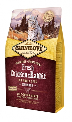 CARNILOVE INTO THE WILD FRESH CHICKEN & RABBIT FOR ADULT CATS ~GOURMAND (6KG)