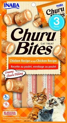 INABA CHURU BITES CHICKEN WITH CHICKEN FILLING (3 x 10 GRAM)