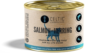CELTIC CONNECTION CAT SALMON WITH HERRING & TROUT CAN (190 GRAM)